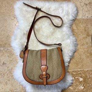 Fossil Vintage Reissue Canvas & Leather Crossbody
